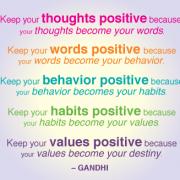 Ghandi, Positive Thinking, Ghandi Positive Thinking Quote