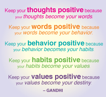 Ghandi, Positive Thinking, Ghandi Positive Thinking Quote
